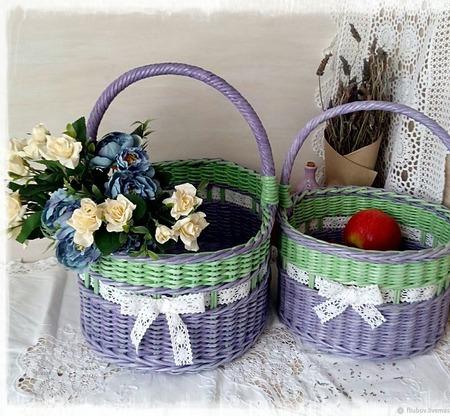 Корзина плетеная для хранения ручной работы на заказ
