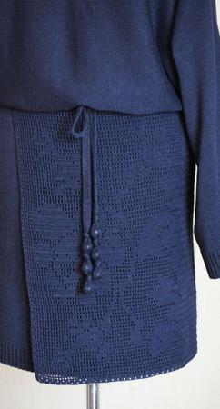 """Платье """"Черничные ночи"""" ручной работы на заказ"""