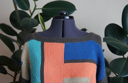 """Пуловер в стиле """"печворк"""" ручной работы на заказ"""