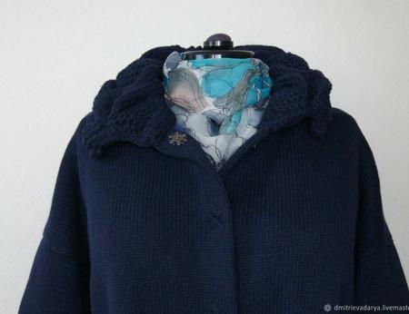"""Пальто """"Синяя Ночь"""" ручной работы на заказ"""