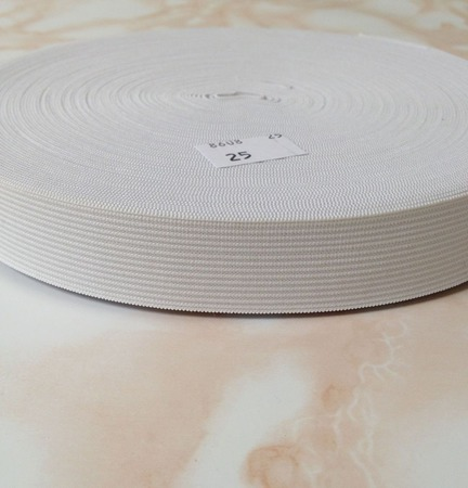 Резинка вязанная ширина 2,5 см цв белый цена 10р за 1м ручной работы на заказ
