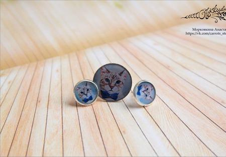 """Комплект """"Серьёзный кот"""" ручной работы на заказ"""