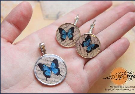 """Комплект """"Бабочки"""" ручной работы на заказ"""