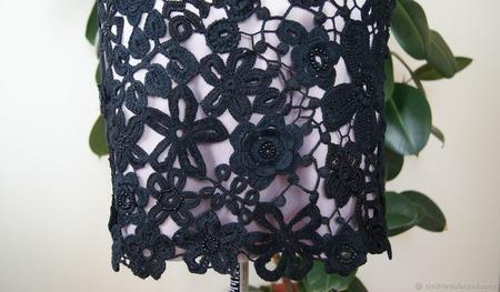 """Платье """"Чёрное кружево"""" ручной работы на заказ"""