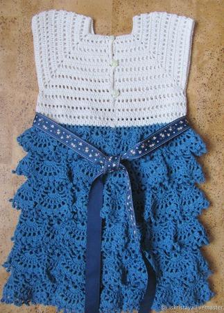 Платье в морском стиле ручной работы на заказ
