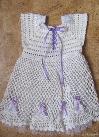 """Платье """" Белое облако"""" ручной работы на заказ"""