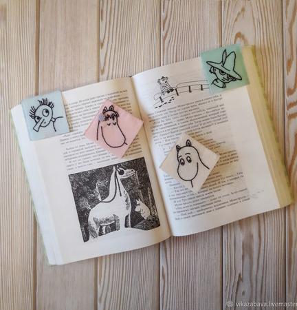 """Фетровые закладки-уголки для книг """"Муми-тролли"""" ручной работы на заказ"""
