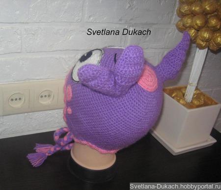 ШАПКА ЛУНТИК knitted hat Luntik ручной работы на заказ
