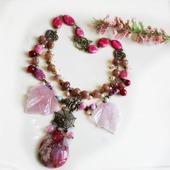 Комплект В ожидании весны из розового и клубничного кварца