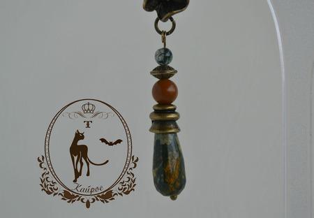Серьги с натуральным камнем ручной работы на заказ