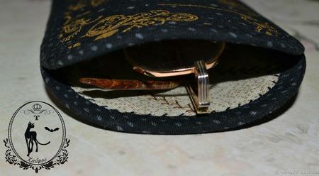 Футляр под очки,очечник ручной работы на заказ
