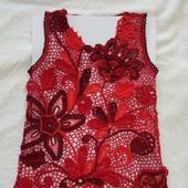 Платье для девочки в стиле Ирландского кружева