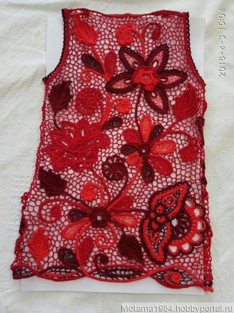 Платье для девочки в стиле Ирландского кружева ручной работы на заказ
