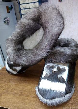 Тапочки из оленьего камуса ручной работы на заказ