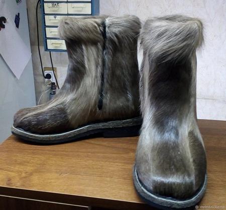 Ботинки из камуса оленя ручной работы на заказ