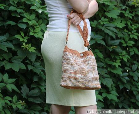 """Вязаная сумочка сумка небольшая """"Сахара"""" ручной работы на заказ"""
