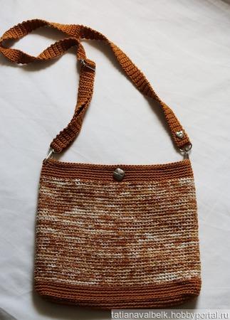 """Вязаная сумка сумочка """"Карамель"""" ручной работы на заказ"""
