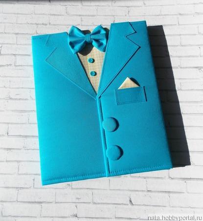 """Папка для документов """"Джентльмен"""" ручной работы на заказ"""