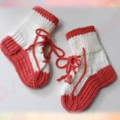 МК (мастер класс) носочки кеды спицами