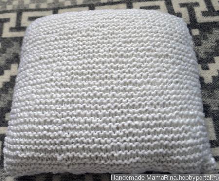 Вязаная подушка ручной работы на заказ