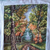 Дорога в лесу