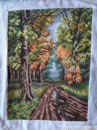 Дорога в лесу ручной работы на заказ
