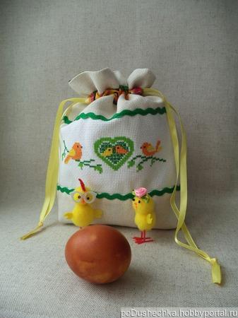 Мешочек для детских принадлежностей Кролик, мешочек в подарок , мешочек  с вышивкой ручной работы на заказ
