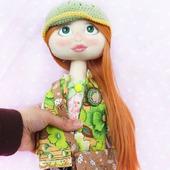 Текстильная кукла Мэри со съемным пиджачком.