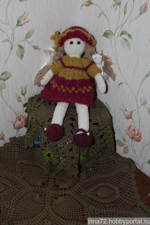 """Кукла вязаная крючком """"Маленькая барышня"""" ручной работы на заказ"""