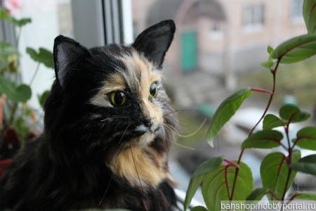 Кошечка портретная по фото ручной работы на заказ