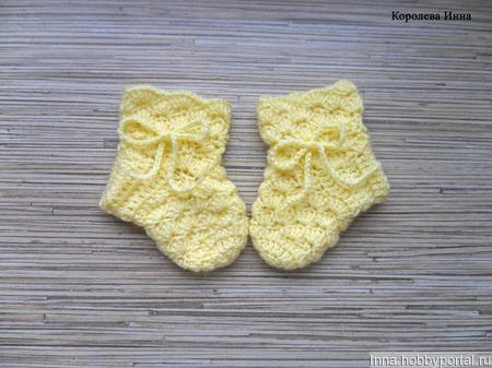 Детские носочки, пинетки ручной работы на заказ