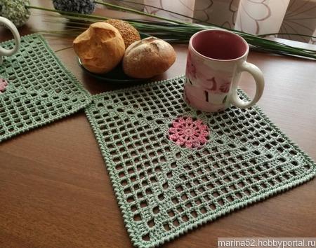 """Комплект салфеток """"Завтрак в Провансе"""" ручной работы на заказ"""