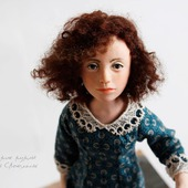 """Каркасная авторская  кукла """" Соня"""""""