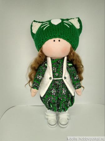 Текстильная кукла Лера ручной работы на заказ