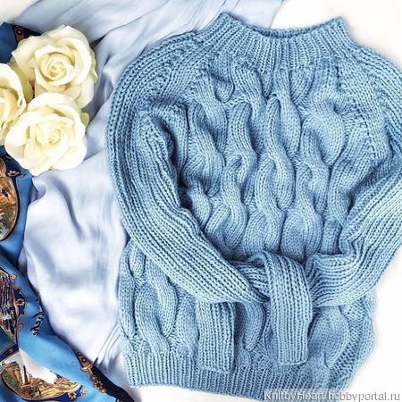 Кашемировый свитер ручной работы ручной работы на заказ