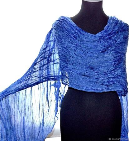 Шелковый женский шарф ручной работы на заказ