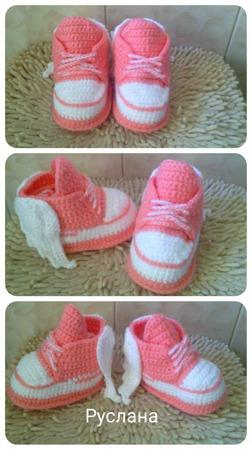 Пинетки-ботиночки-кедики ручной работы на заказ