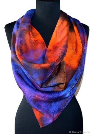 Шелковый платок ручной работы на заказ