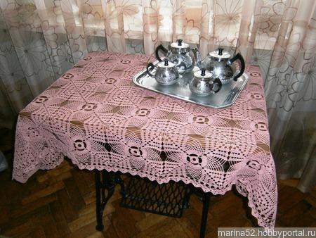 """Скатерть """"Розовое чаепитие"""" ручной работы на заказ"""