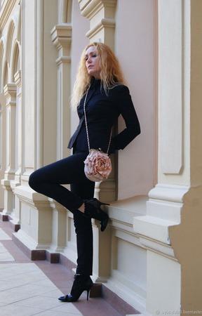 """Сумочка валяная """"Кремовая Роза"""" ручной работы на заказ"""