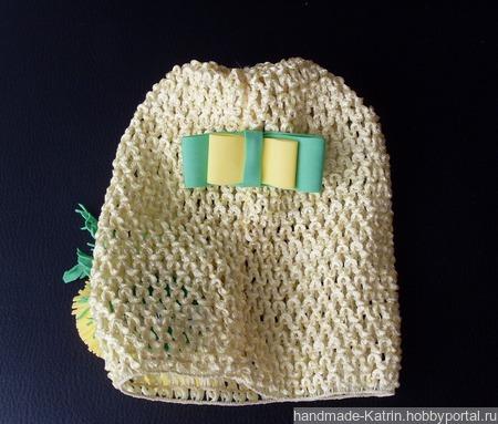 Шапочка с одуванчиками ручной работы на заказ
