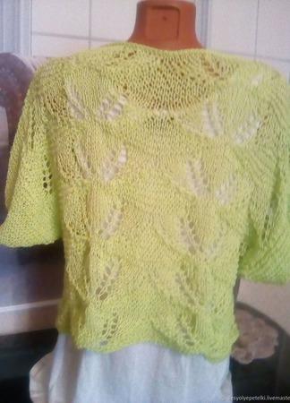 """Пуловер """"Краски лета"""" ручной работы на заказ"""