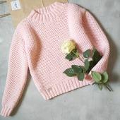"""Вязаный свитер """"Соты"""" ручной работы"""