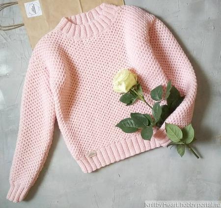 """Вязаный свитер """"Соты"""" ручной работы ручной работы на заказ"""