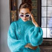 Модный свитер из мохера