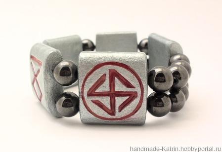 Мужской обережный браслет ручной работы на заказ
