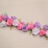 Лента в косу, розы