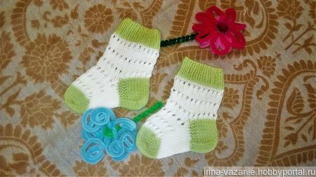 Носочки вязаные малышам ручной работы на заказ