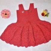 Платье вязаное для девочки 1-2 года