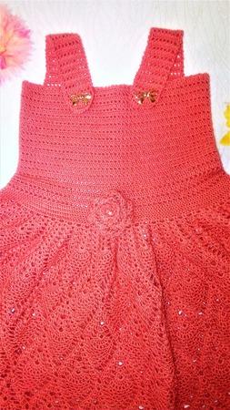 Платье вязаное для девочки 1,5-2,5 года ручной работы на заказ